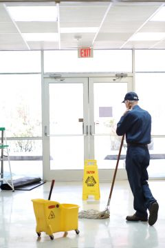 Floor cleaning in Walnut Creek, CA by Russell Janitorial LLC
