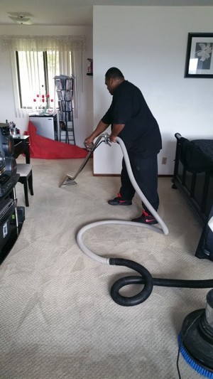 Commercial carpet cleaning by Russell Janitorial LLC
